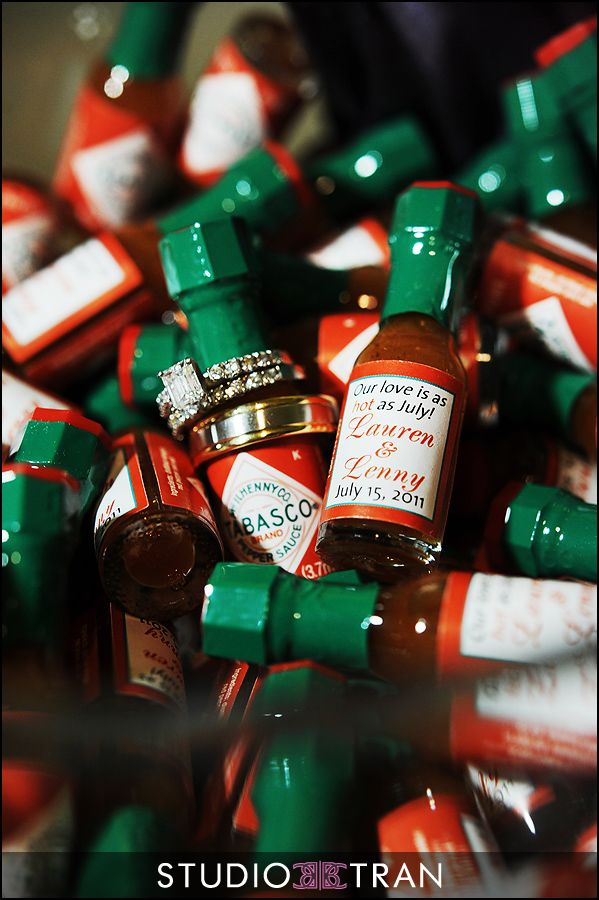 New Orleans Wedding Gift Bag Ideas : SLTabasco wedding favors. USD60 for 144 minis. http://countrystore ...