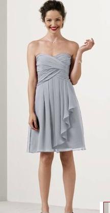 davids bridal bridesmaid dresses style #: f14847 color: silver