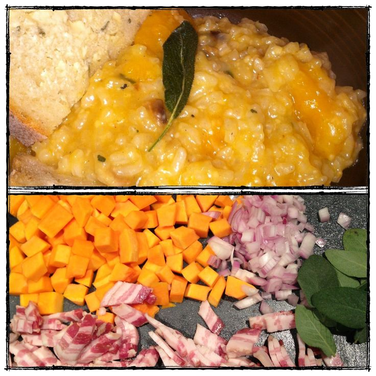 Butternut Squash Risotto, with Bacon and Sage. The seasonal flavors in ...
