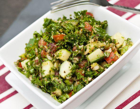 Gluten-free, Paleo Tabbouleh. Fresh, lemony, and loaded with veggies.