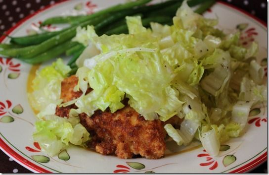 parmesan_crusted_chicken_breast_salad | Salads | Pinterest