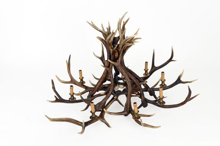 Lustre Bois De Cerf : Lustre en bois de cerf Pour le chalet Pinterest