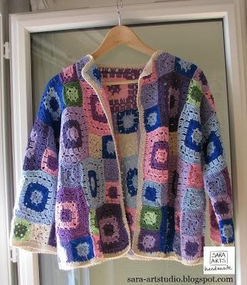 Multicoloured funny granny jacket
