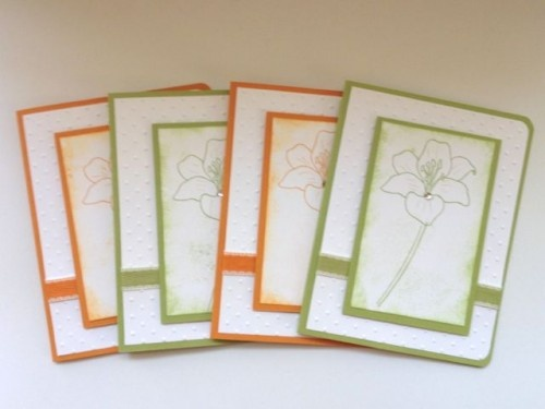 Handmade boxed set of blank cards - simple and elegant