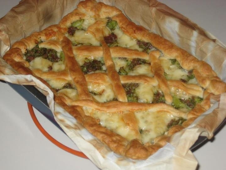 Broccoli Rabe & Sausage Pie | Food & Drink | Pinterest