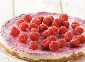 Frozen Raspberry Cashew Cream Cake | Recipe