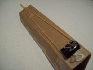 Cardboard gun + rubber band