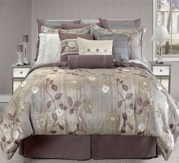 Pin by judi elder on purple pinterest for Purple and taupe bedroom
