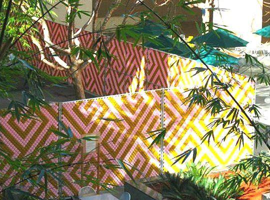 decorating a chain link fence. Black Bedroom Furniture Sets. Home Design Ideas