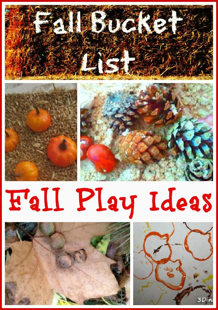 TONS of Fall play activities for kids!!!