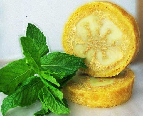 Invigorating Spearmint Loofah Bar by holisticwaxworks on Etsy, $10.00