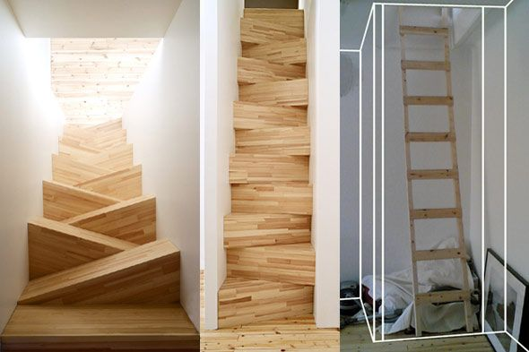 Amazing design castle towers and dungeons up the down - Tight space staircase design ...