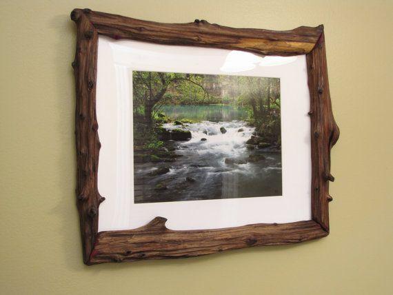 Log Picture Frames : 16x20 Log Picture Frame Cedar Driftwood by MissouriNatureArt, $99.00