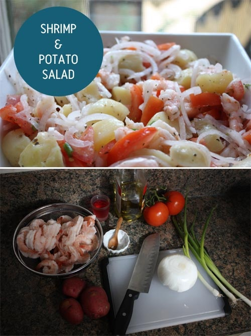 Shrimp and potato salad, looks delicious | 30th Birthday | Pinterest