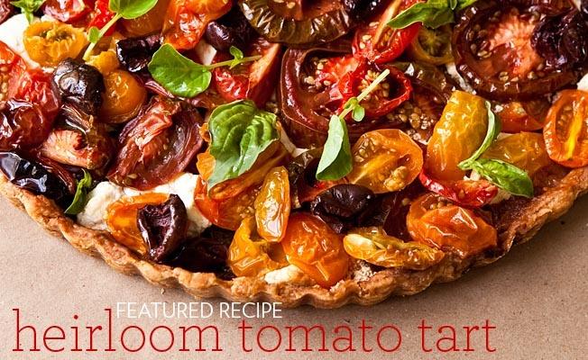 wich heirloom tomato gazpacho heirloom tomato and mozzarella tart