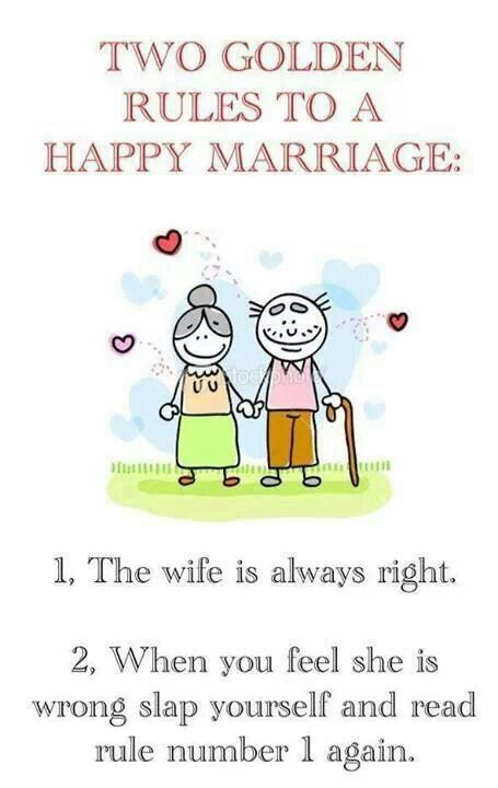 Two golden rules to a happy marriage WORDS TO LIVE AND LAUGH Pin ...