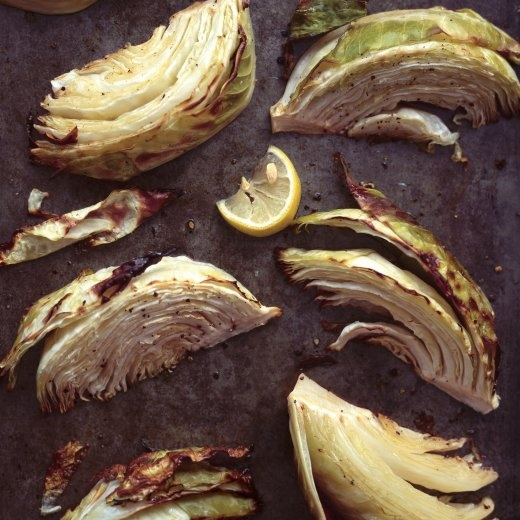 Roasted Green Cabbage Wedges with Olive Oil and Lemon - Martha Stewart ...