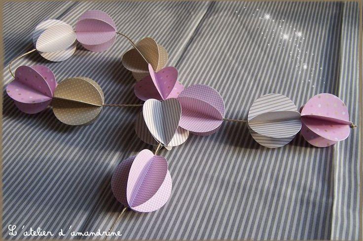 Guirlande en papier l 39 atelier d 39 amandrine pinterest - Fabriquer une boule en papier ...