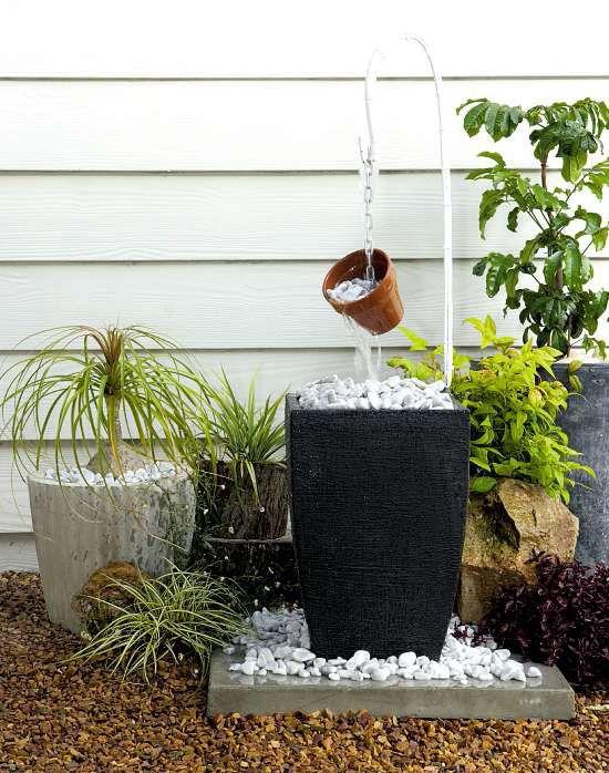 Diy garden fountain diy home decor pinterest for Homemade water fountain ideas