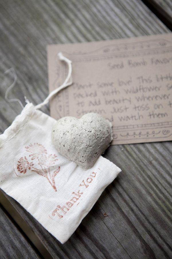 Wildflower Seed Bomb Wedding Favor