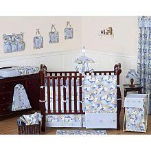 Sweet jojo blue and khaki camo collection 9 piece crib bedding set