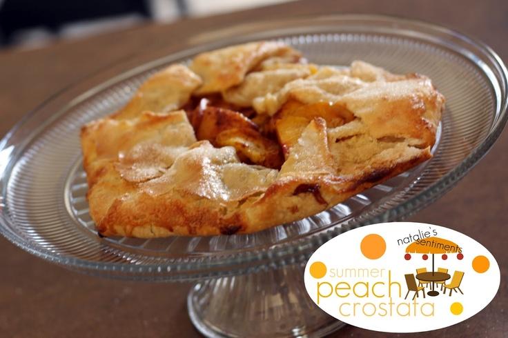 natalie's sentiments: Summer Peach Crostata