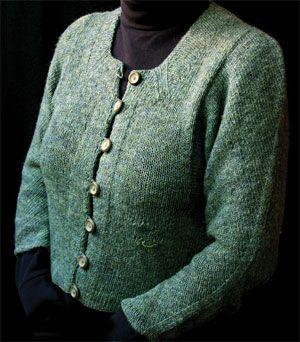 Elizabeth Zimmerman Free Knitting Patterns : Elizabeth Zimmerman Green Sweater Knitting--Cardigans and Jackets