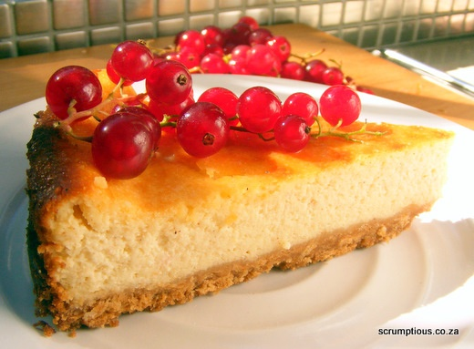 Sour Cream Cheesecake with Fresh Redcurrants | Scrumptious South ...