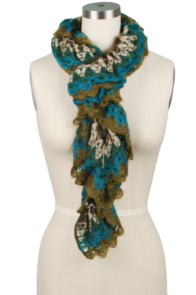 Crocheting Ruffle Scarf : Scarlett Crochet Ruffle Scarf Fashion Pinterest