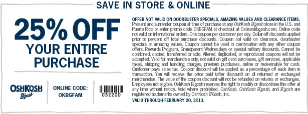 photo about Osh Coupons Printable titled Osh kosh 25 off coupon printable : Disney printable coupon codes