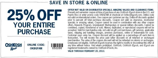photograph regarding Osh Coupons Printable named Osh kosh 25 off coupon printable : Disney printable coupon codes