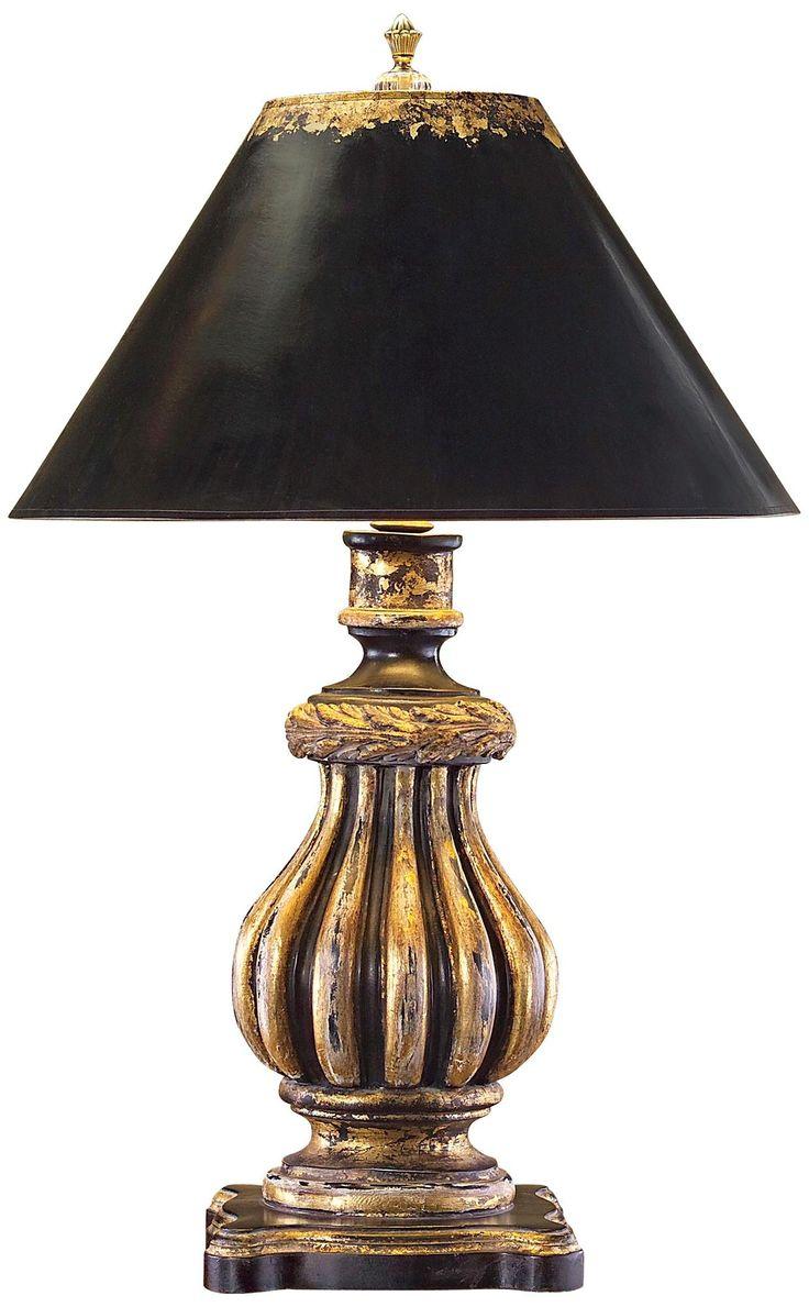 john richard black and gold urn table lamp. Black Bedroom Furniture Sets. Home Design Ideas