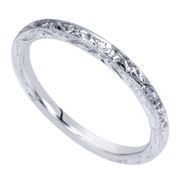 Genesis Designs WB8845W4JJJ Wedding Ring 14K white gold victorian ...