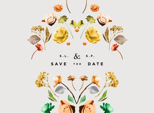 Floral Save the Date / Lisa Hedge