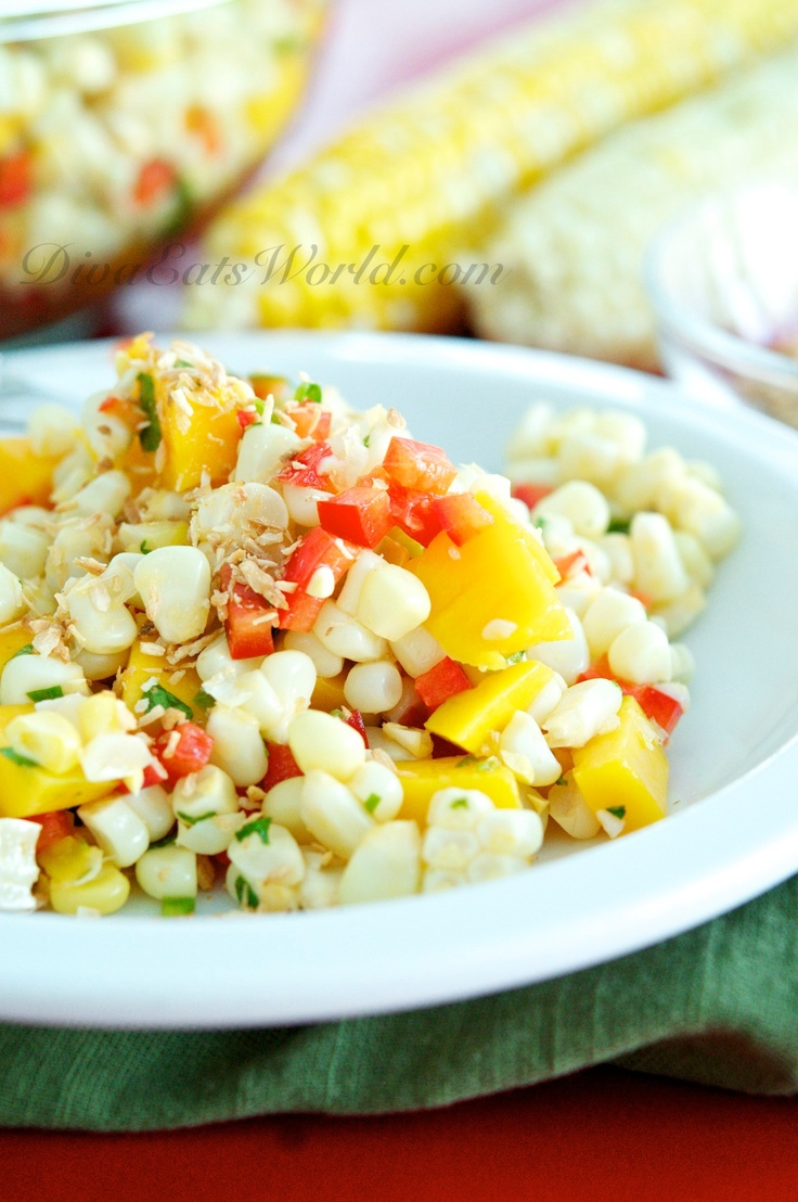 Corn+Salad+w/+Mango+&+Toasted+Coconut | Food, Food, Glorious Food | P ...