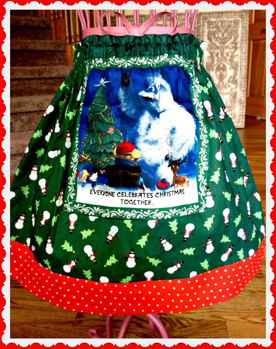 New christmas girls holiday boutique rudolph abominable snowman euro