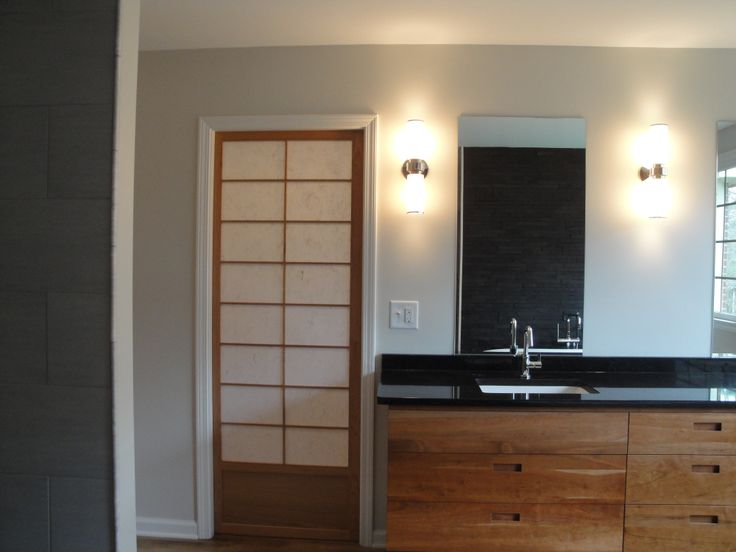 new shoji pocket closet door, city loft paint color by ...
