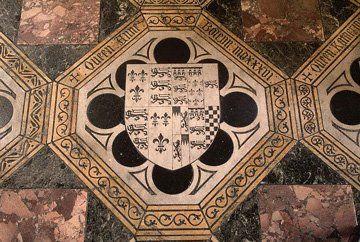Anne Boleyn's grave marker in the Chapel of Saint Peter-ad-Vincula, Tower of London