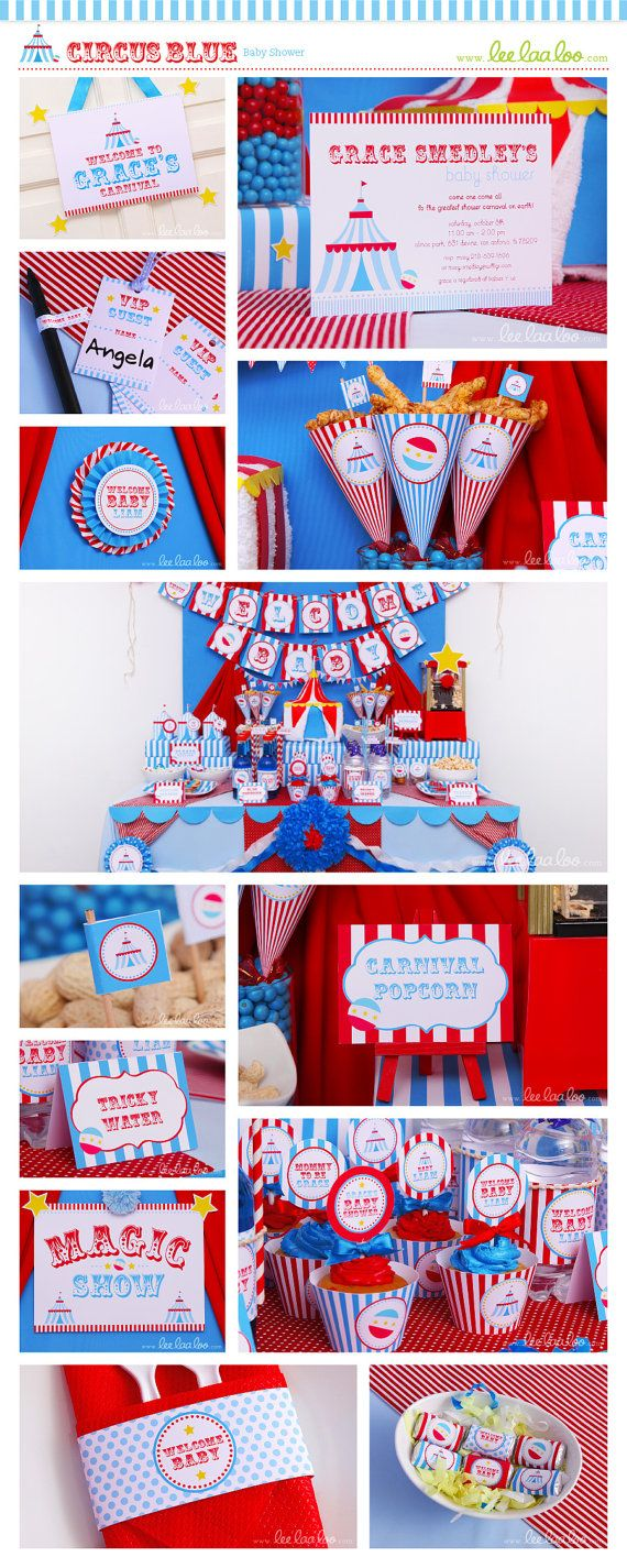 circus baby shower photo booth bonus party signs nonpersonalized