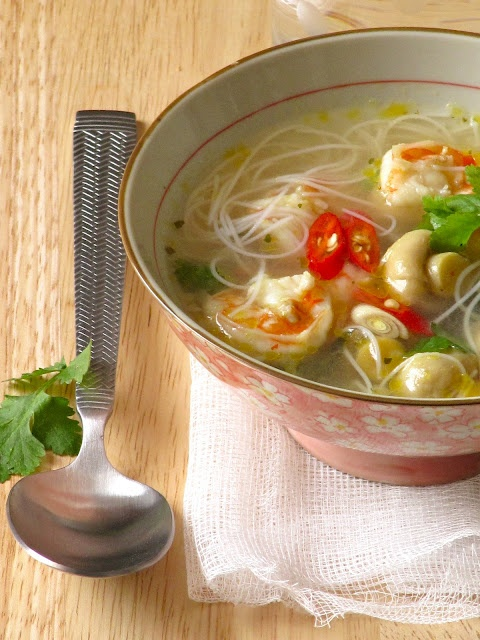 Thai hot and sour soup. MADE. Very good, easy to substitute ...