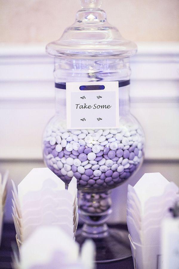 Mauve Purple & White Candy Buffet   Half Moon Bay Wedding by JAY TSAI