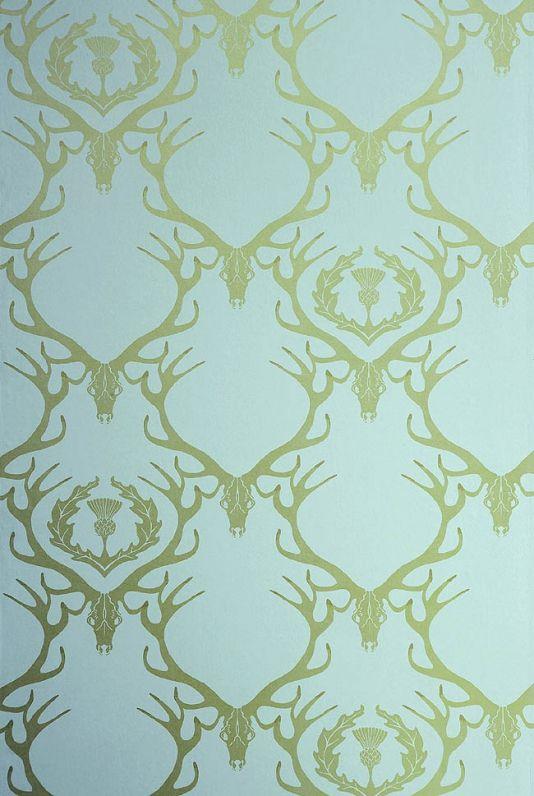 gold antler wallpaper - photo #1
