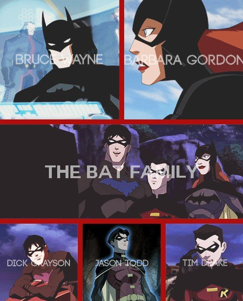 Young Justice - The Bat FamilyYoung Justice Bat Family