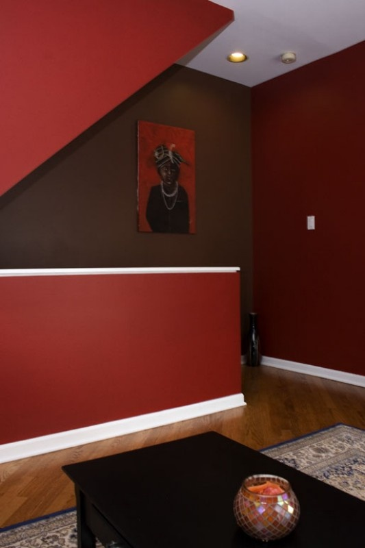 Red and chocolate brown walls for the home pinterest Chocolate colour wall paint