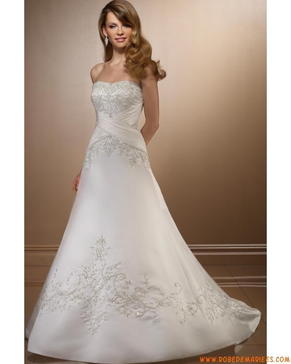 Robe de mariée de luxe broderie en satin  Robes de mariée ...