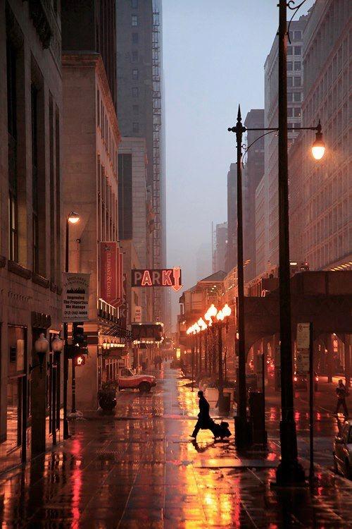 ...RAIN.  IN PARK AVE NEW YORK