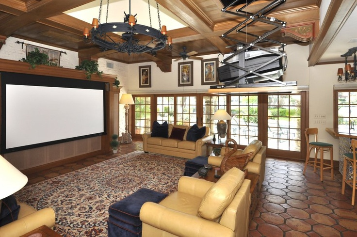 projector screen tv in living room for the home pinterest