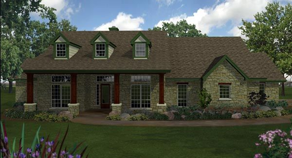 House Plan 74551 Country Ranch Southern Plan With 2852 Sq Ft 4