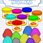 This 20 images set includes colored and line art graphic for playdough cups and dough in all colors.These graphics have 300 dpi resolution.All m...