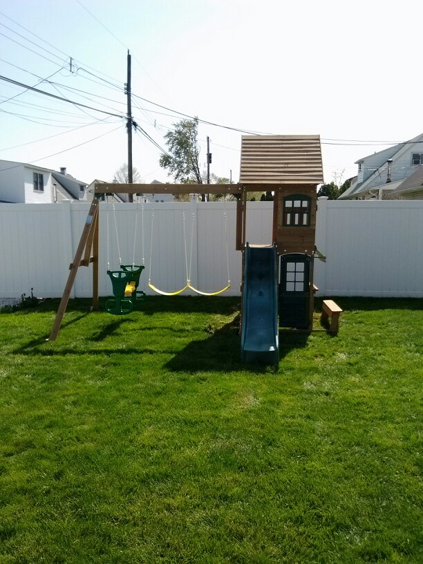Big Backyard Windale Playset from Toys R Us installed in Levittown, PA